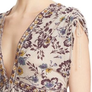 Never Worn Floral Free People Top Size S